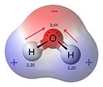 dipolo; acqua; molecola;