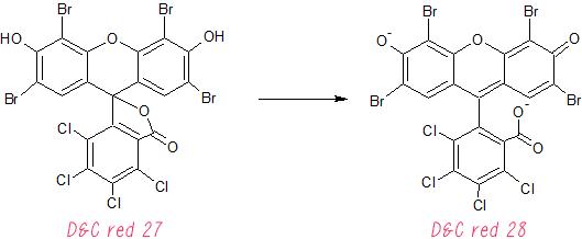 phloxine B; floxina B; d&c red; rossetto magico; acid red;